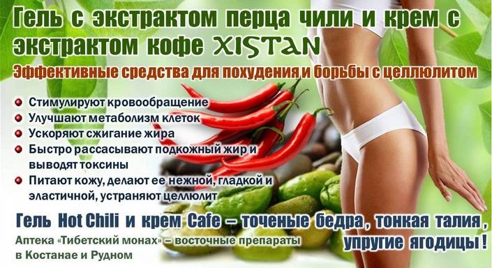 Крем для похудения тела XISTAN Cafe антицеллюлитный с экстрактом кофе купить в аптеке Тибетский монах в Костанае и Рудном